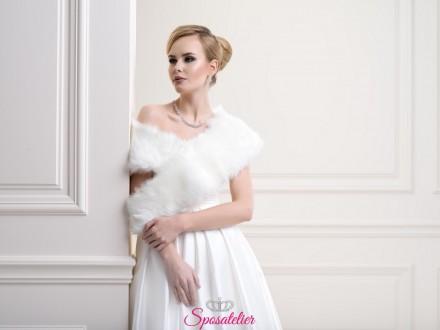 stola sposa di pelliccia elegante nuova collezione 2019