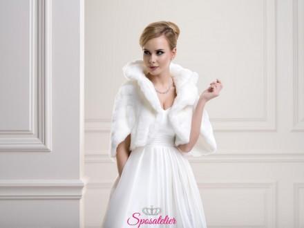 bolero di pelliccia sposa nuova collezione 2019 vendita online