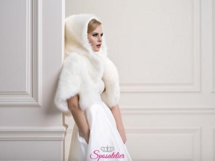 Bolero di pelliccia con cappuccio e maniche tre quarti  collezione 2019