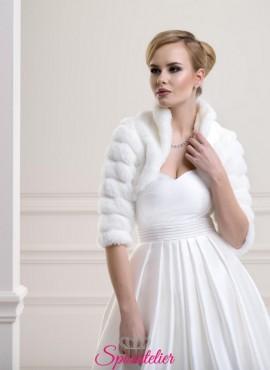 Coprispalle di pelliccia per matrimonio invernale nuova collezione 2019
