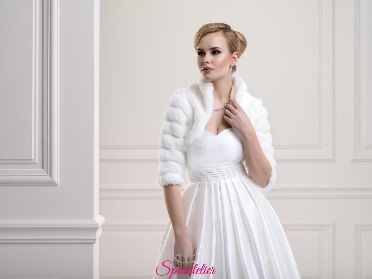 prodotti di qualità prodotti caldi in arrivo Coprispalle di pelliccia per matrimonio invernale nuova collezione 2019