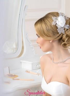 acconciatura sposa con fiore vendita online collezione 2019