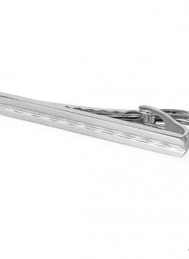 Fermacravatte uomo color argento Modello C 60