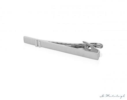 Fermacravatte uomo color argento Modello C 61