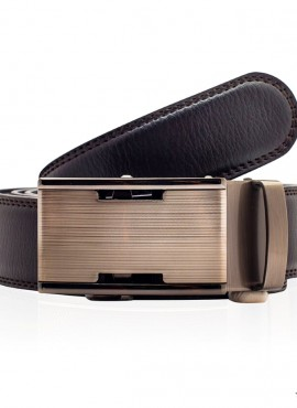 Cintura uomo marrone chiusura automatica top quality