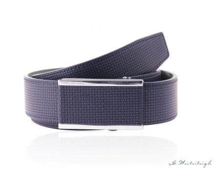 Cintura uomo Blu con chiusura scorrevole automatica