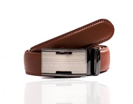 cintura uomo di pelle marrone fibbia automatica accessori uomo scontati online