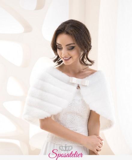 stola sposa di pelliccia elegate vendita online collezione 2019