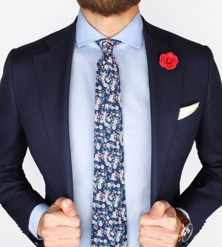 cravatte a fiori firmate online