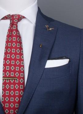 Cravatta rossa classic style fantasia 3