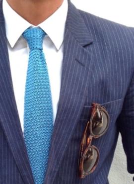 cravatta a calzino colore celeste