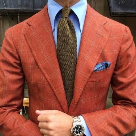 cravatta marroncino chiaro