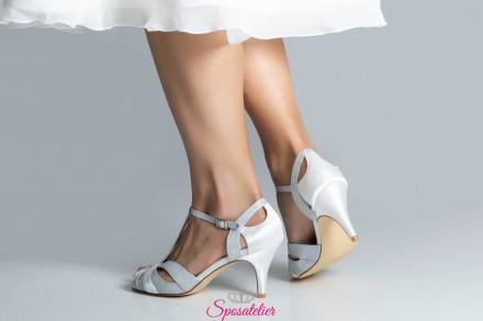 Sandalo sposa o cerimonia color argento collezione 2019