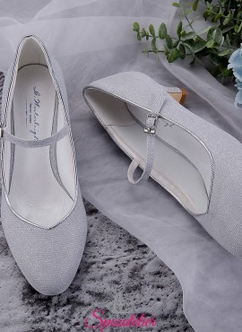 Scarpe da sposa argento con tacco 5 cm collezione 2019 online
