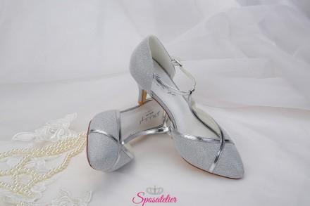 Scarpe da sposa color argento eleganti collezione 2019