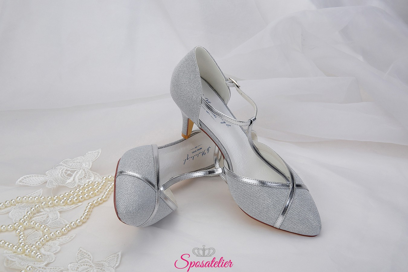 Scarpe Da Sposa Color Argento.Scarpe Da Sposa Color Argento Eleganti Collezione 2019sposatelier