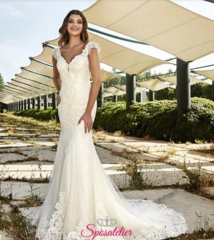 abito da sposa a sirena in pizzo delicato collezione 2019 vendita online
