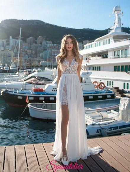 abiti da sposa corto con gonna lunga vendita online economici personalizzati