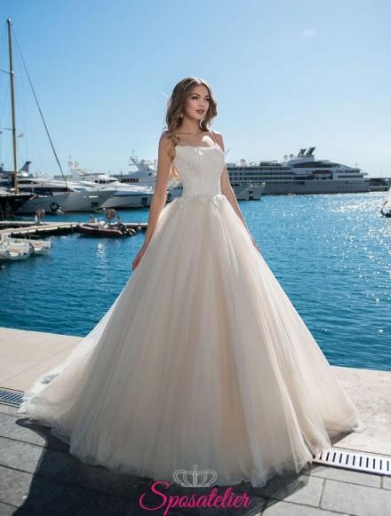 vestiti da sposa  modelli  ampi da principessa online personalizzati su misura