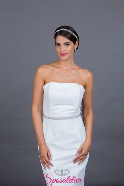 intura elegante per abito da sposa online color argento collezione 2019