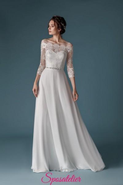 abiti da sposa scivolati 2019 2020 di tendenza collezione economica online
