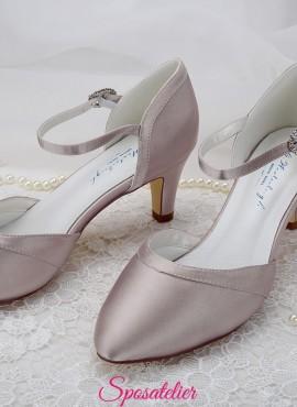 scarpe da sposa color rosa cipria tacco 6 vendita online collezione 2019