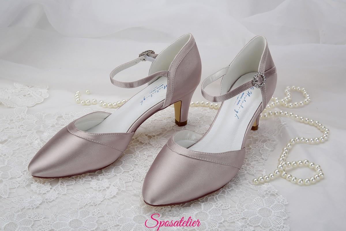 Scarpe Sposa Color Cipria.Scarpe Da Sposa Color Rosa Cipria Tacco 6 Vendita Online