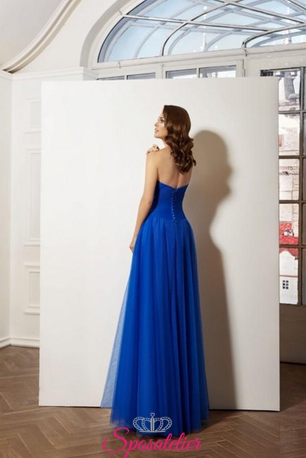 Vestiti Da Sposa Blu.Abiti Cerimonia Online Italia Collezione 2019 Colore Blu