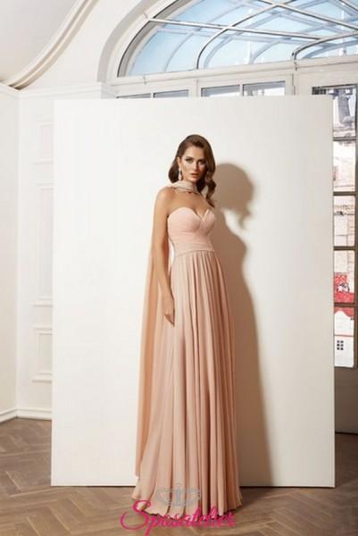 vestito per testimone di nozze elegante colore rosa online in chiffon collezione 2019