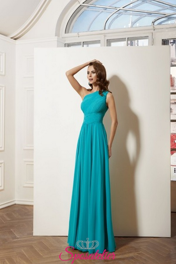 4a4c5050da22 vestito da cerimonia vendita online italia modello monospalla realizzato in  chiffon