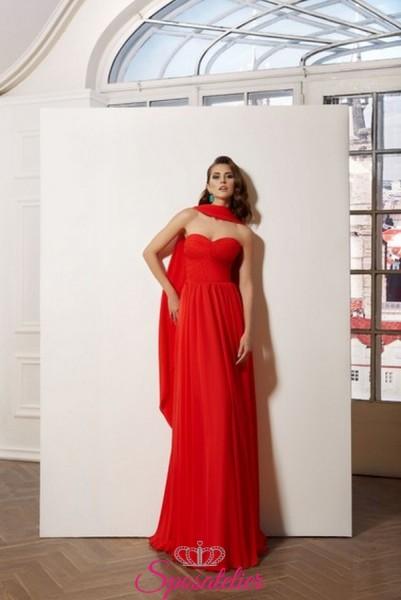 vestiti eleganti da cerimonia online in chiffon realizzati su misura collezione 2019