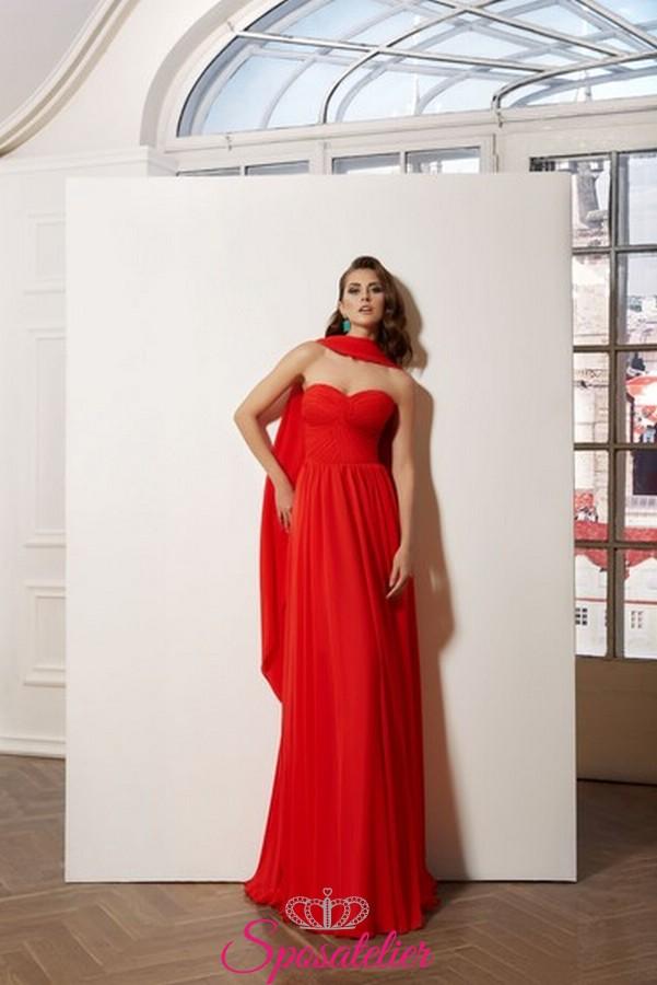 Vestiti Eleganti Cerimonia.Vestiti Eleganti Da Cerimonia Online In Chiffon Realizzati Su