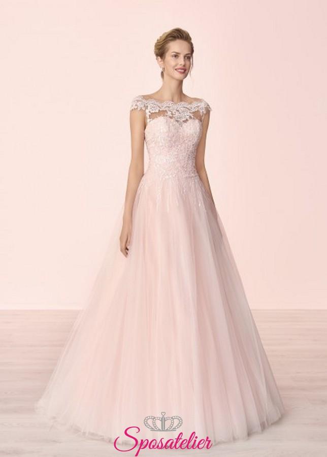 abiti da sposa colorati modello principessa 2019 2020 di tendenza