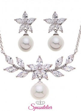 gioielli da sposa economici online color argento  tendenza collezione 2019
