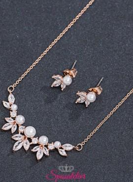 gioielli da sposa economici online color oro rosa di tendenza collezione 2019