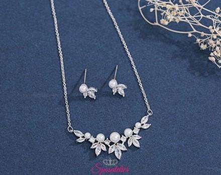 gioielli da sposa color argento eleganti economici online collezione 2019