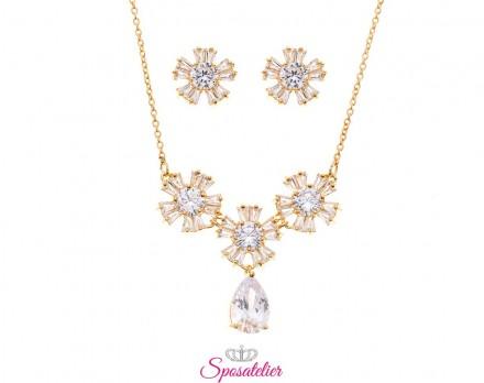 gioielli da sposa eleganti color oro economici online collezione 2019