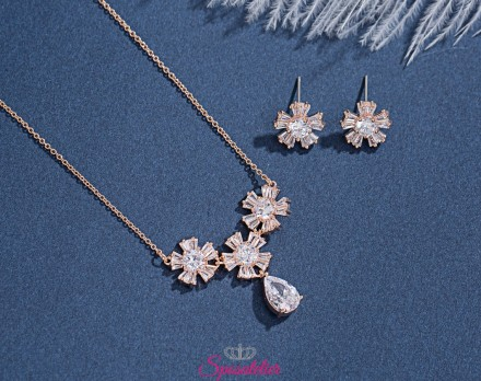 gioielli da sposa eleganti color oro rosa elegante e di tendenza online collezione 2019