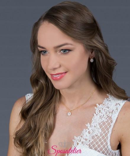 gioielli da sposa eleganti color oro elegante e di tendenza online collezione 2019