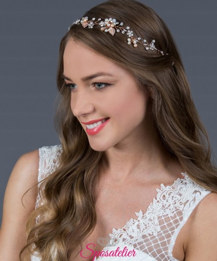 acconciature capelli lunghi sposa 2019 color oro rosa di tendenza