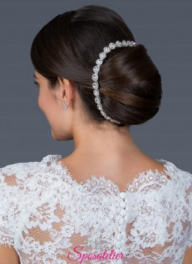 acconciatura capelli  sposa 2019 di tendenza in argento e senza nickel