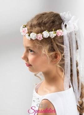 coroncine comunione bambina con fiori vendita online