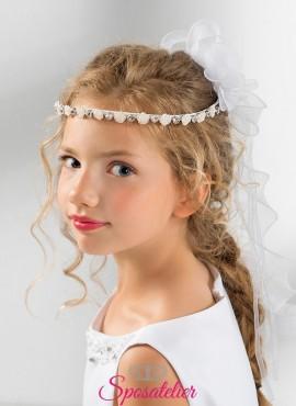 coroncine comunione bambina con fiori e strass vendita online collezione 2019