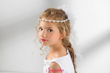 coroncine comunione bambina con fiori e strass vendita online