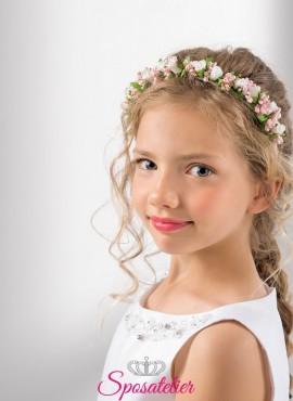 cerchietti per capelli bambina prima comunione online collezione 2019