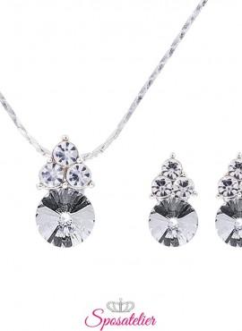 collana e orecchini sposa eleganti con punti luce economici online collezione 2019