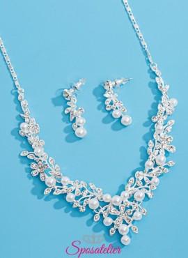 gioielli da sposa con cristalli e perle color avorio.online collezione 2019