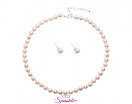 set di gioielli da sposa Con perle lucidate a mano. economici online collezione 2019