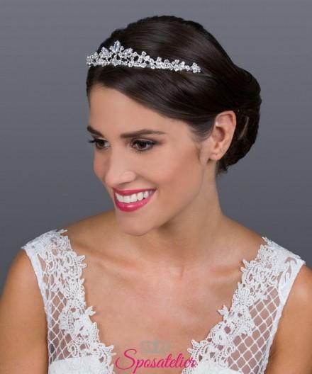tiara sposa online per acconciatura moderna o classica collezione 2019