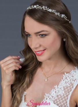 accessori sposa per capelli fascia di tendenza color oro rosa 2019